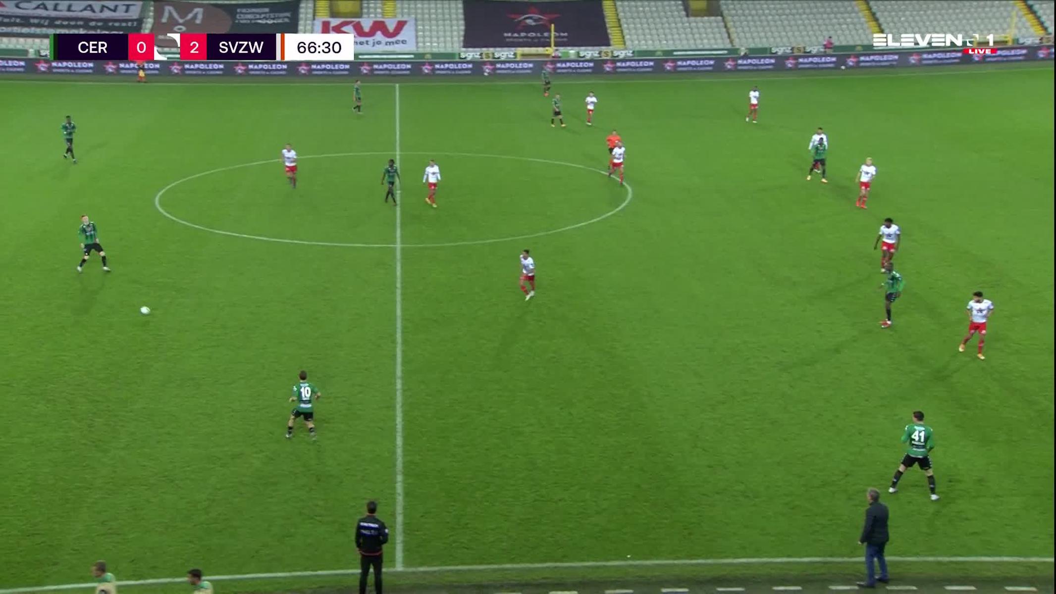 Doelpunt Ike Ugbo (Cercle Brugge vs. SV Zulte Waregem)