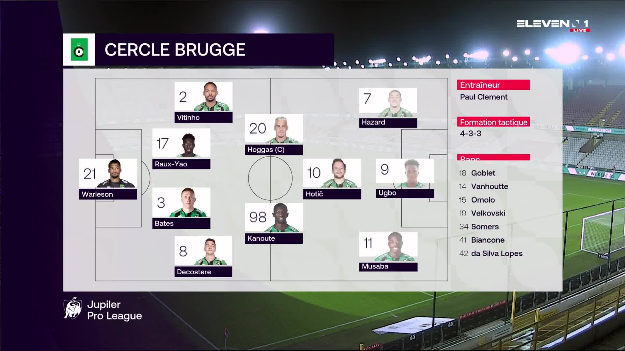 Résumé Cercle Brugge vs. SV Zulte Waregem