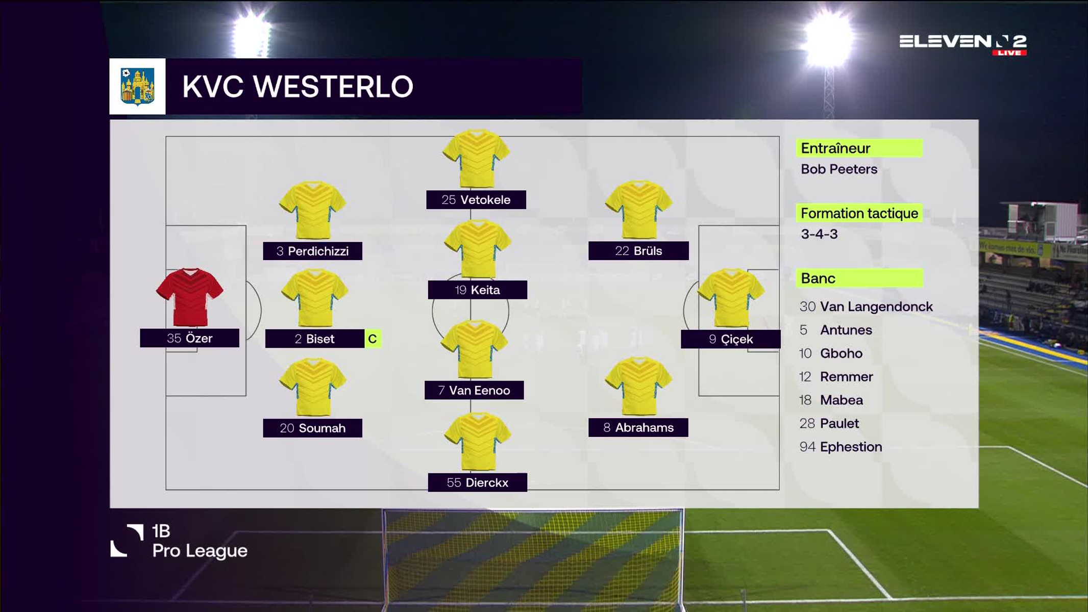Résumé KVC Westerlo vs. RWDM