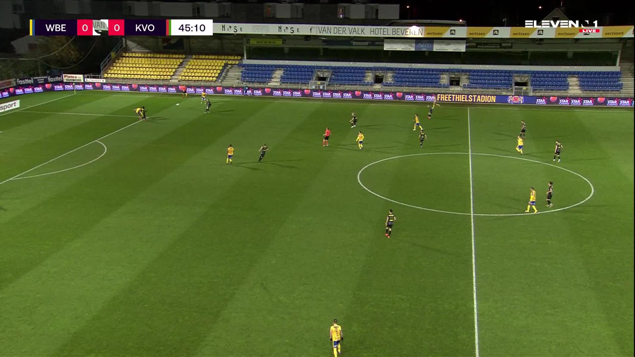 Doelpunt Alessandro Albanese (Waasland-Beveren vs. KV Oostende)