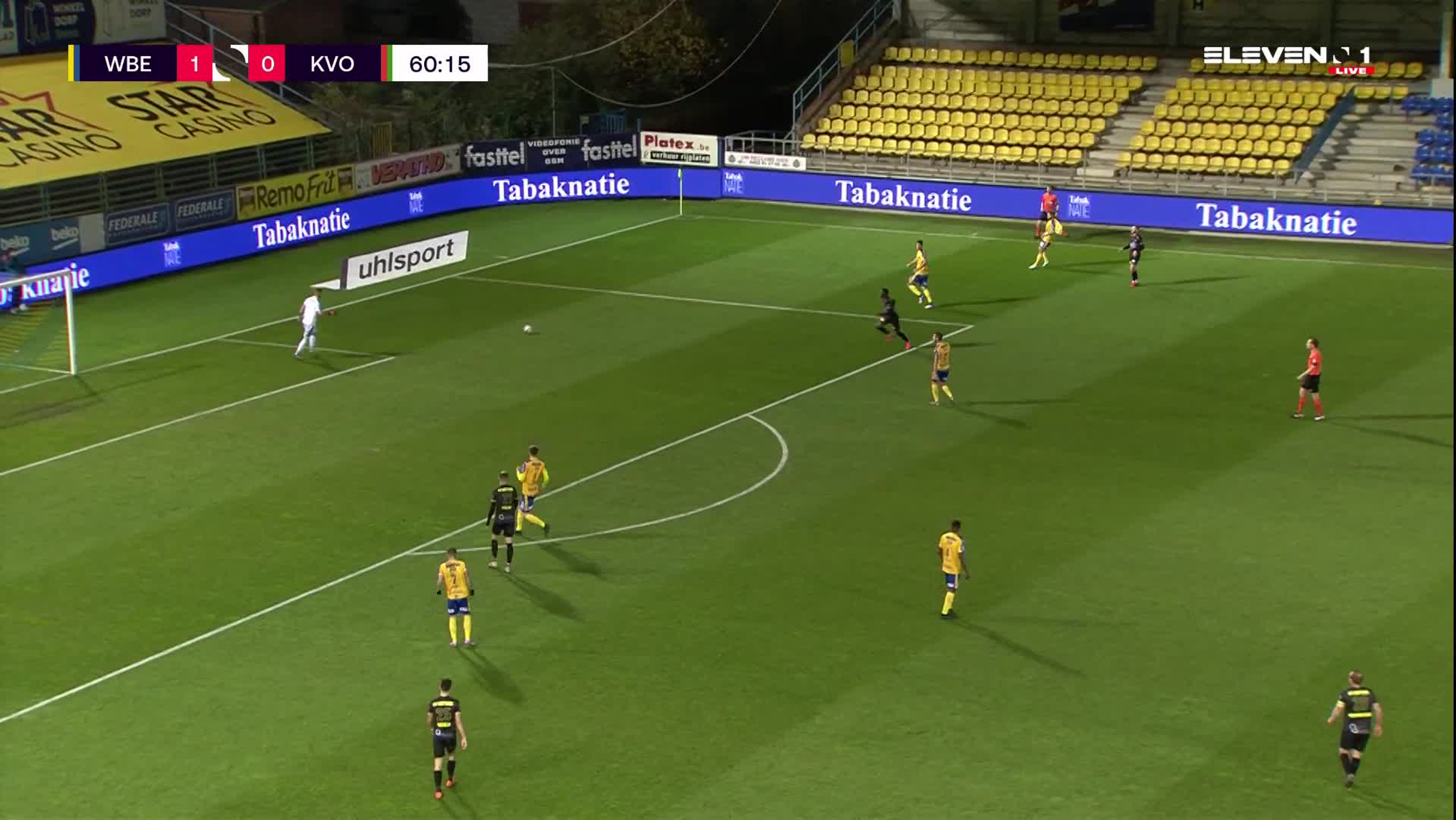 Doelpunt Danel Sinani (Waasland-Beveren vs. KV Oostende)