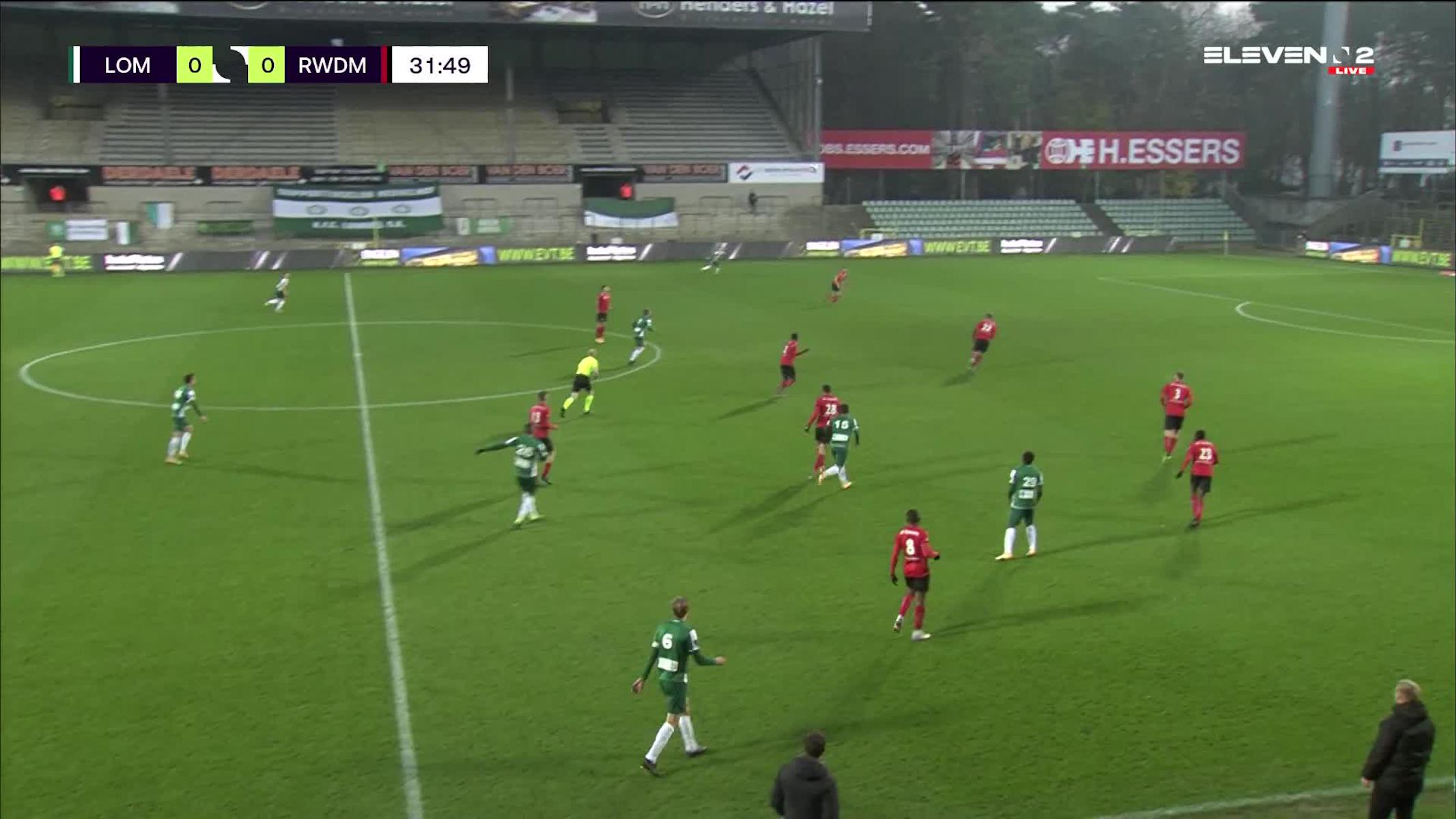 Doelpunt Anass Zaroury (Lommel SK vs. RWDM)