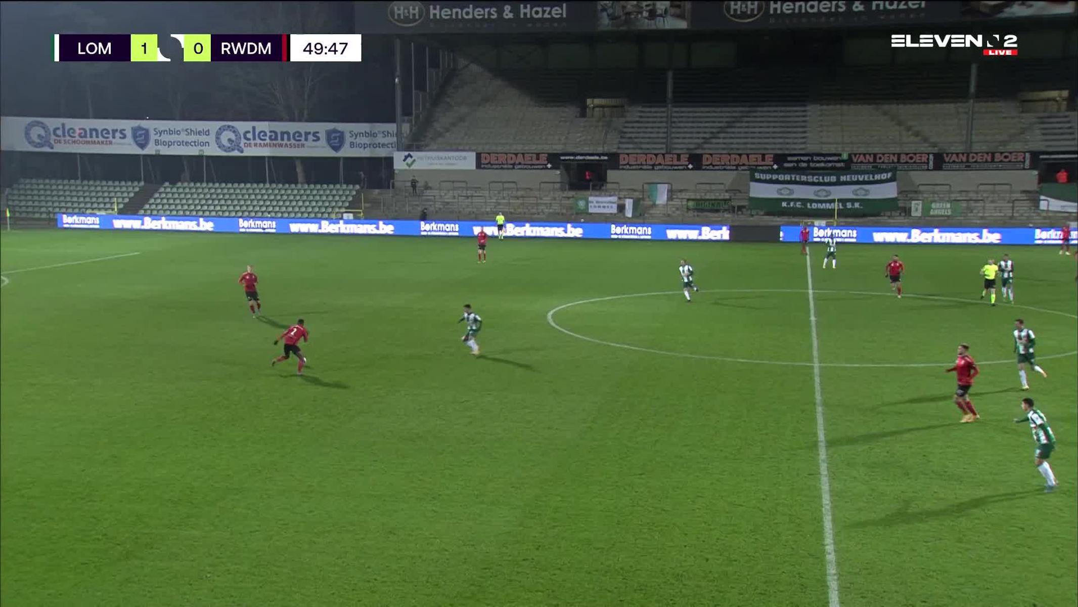 Doelpunt Manfred Ugalde (Lommel SK vs. RWDM)