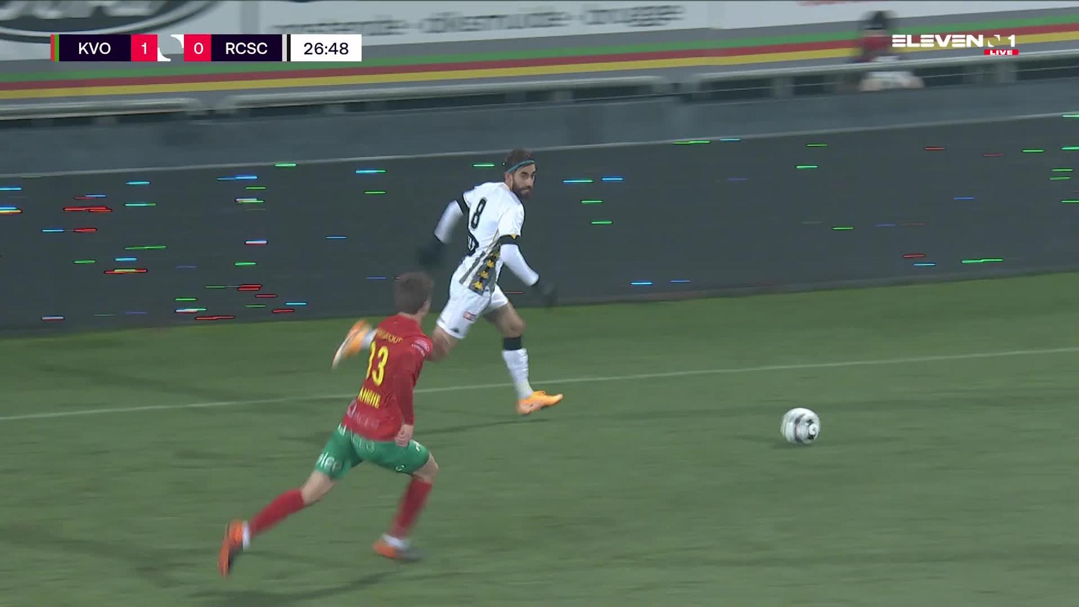 Doelpunt Shamar Nicholson (KV Oostende vs. Sporting Charleroi)