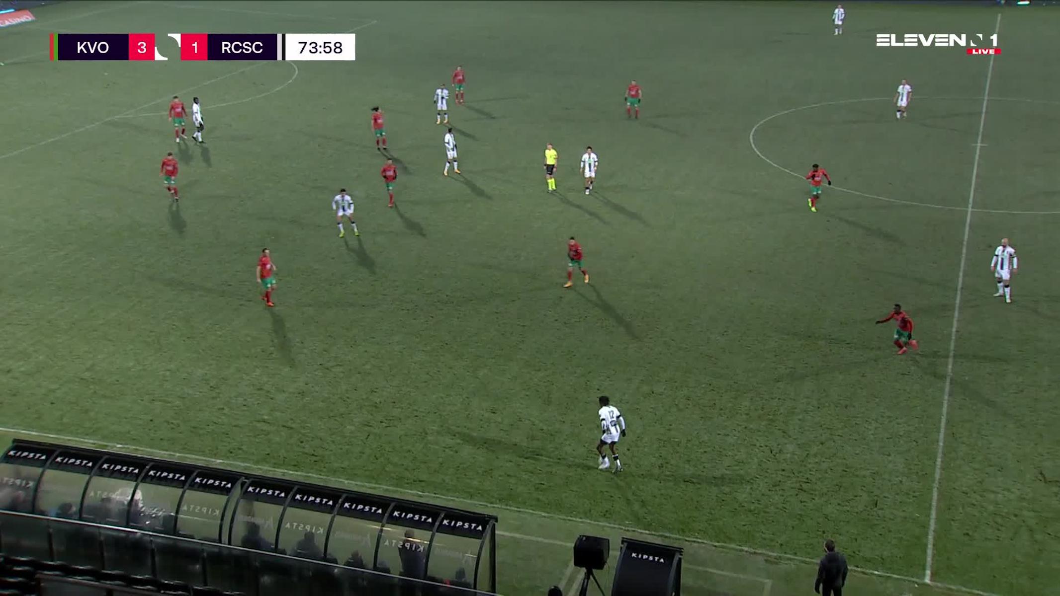 Doelpunt Kaveh Rezaei (KV Oostende vs. Sporting Charleroi)