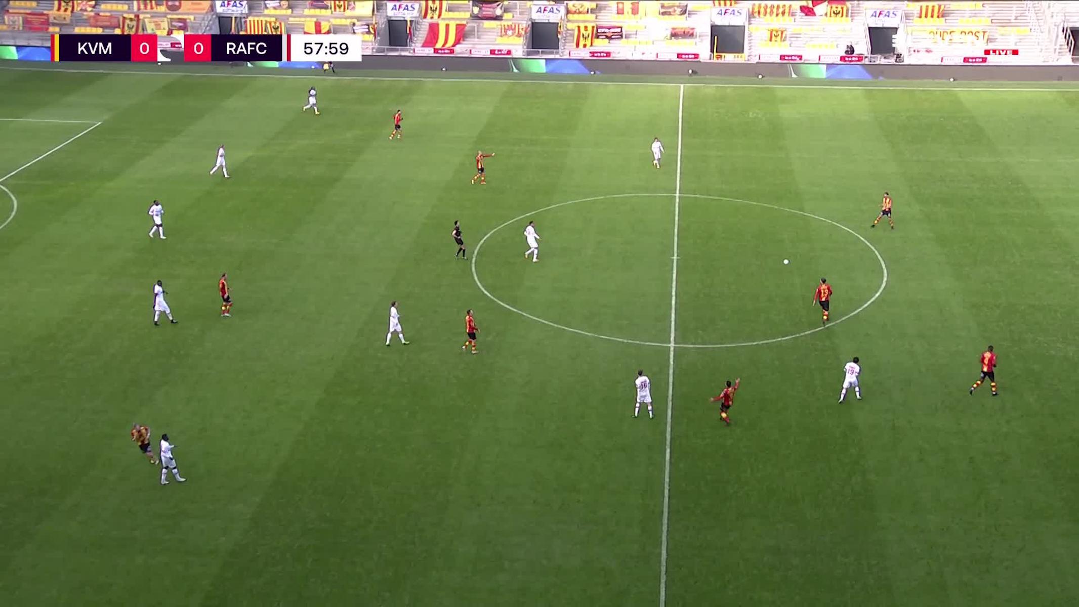 Doelpunt Rob Schoofs (KV Mechelen vs. Royal Antwerp FC)