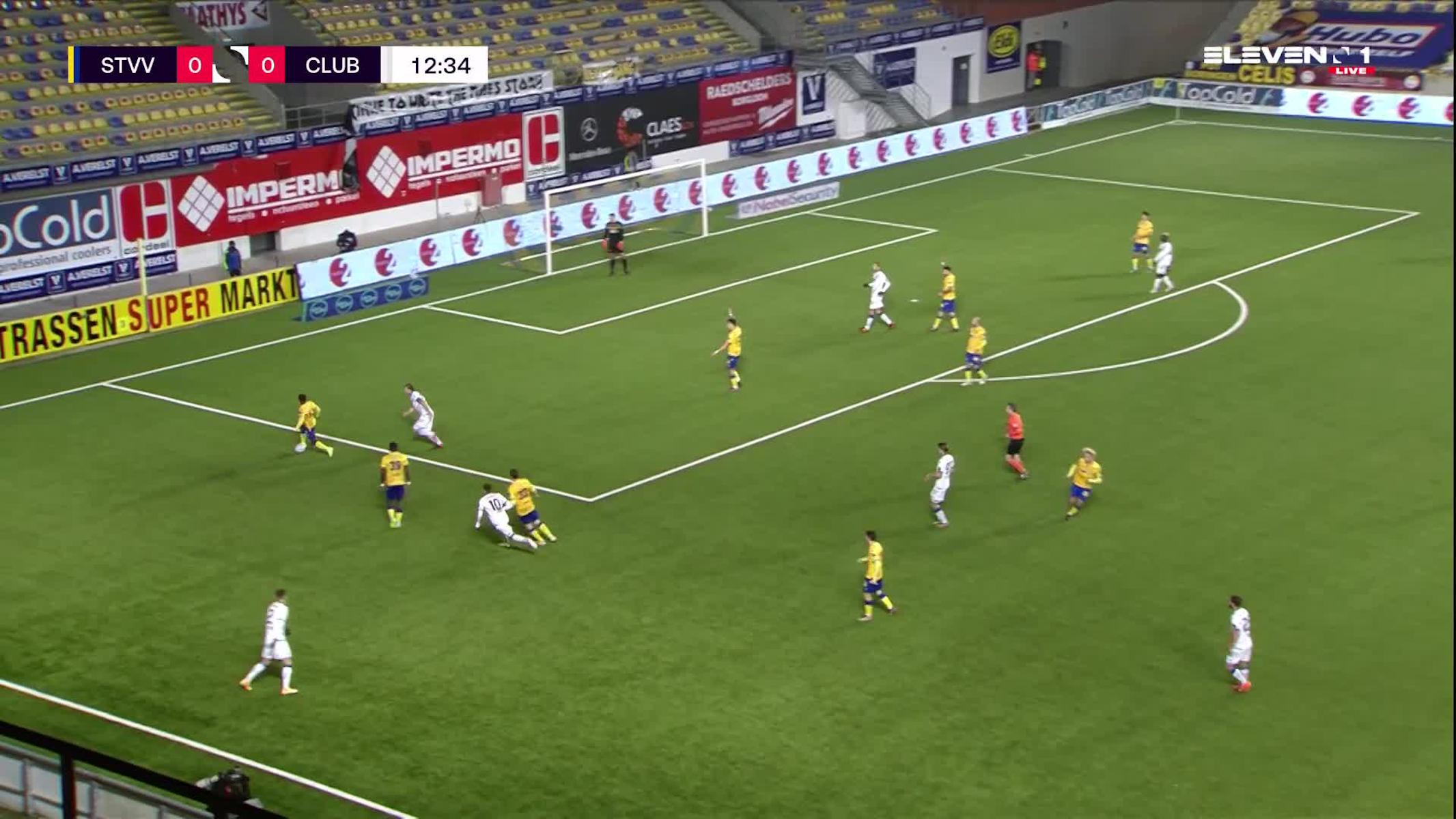Doelpunt Bas Dost (STVV vs. Club Brugge)