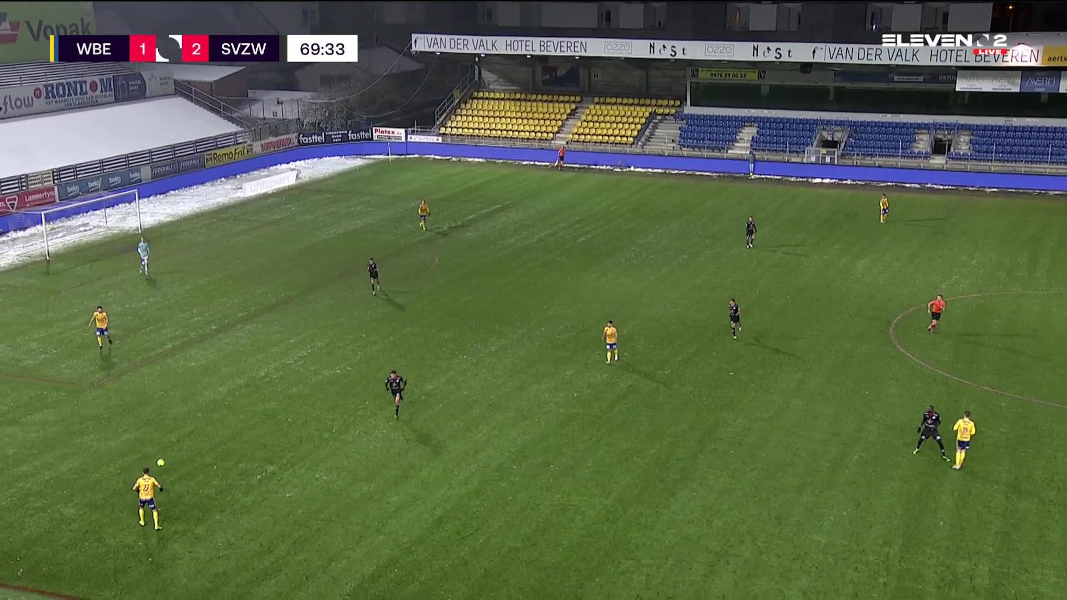 Doelpunt Gianni Bruno (Waasland-Beveren vs. SV Zulte Waregem)