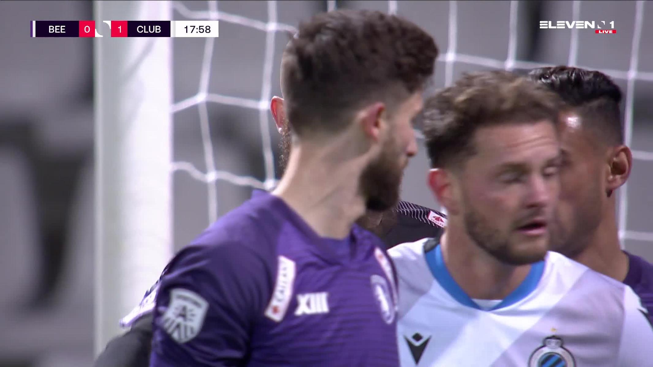 Doelpunt Odilon Kossounou (K. Beerschot V.A. vs. Club Brugge)