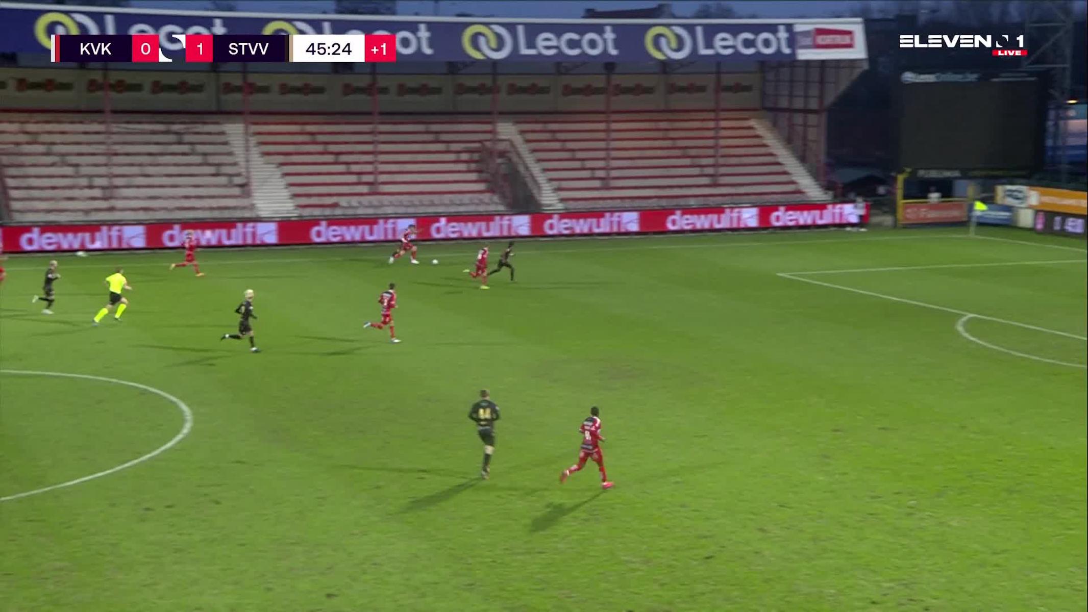 Doelpunt Yuma Suzuki (KV Kortrijk vs. STVV)