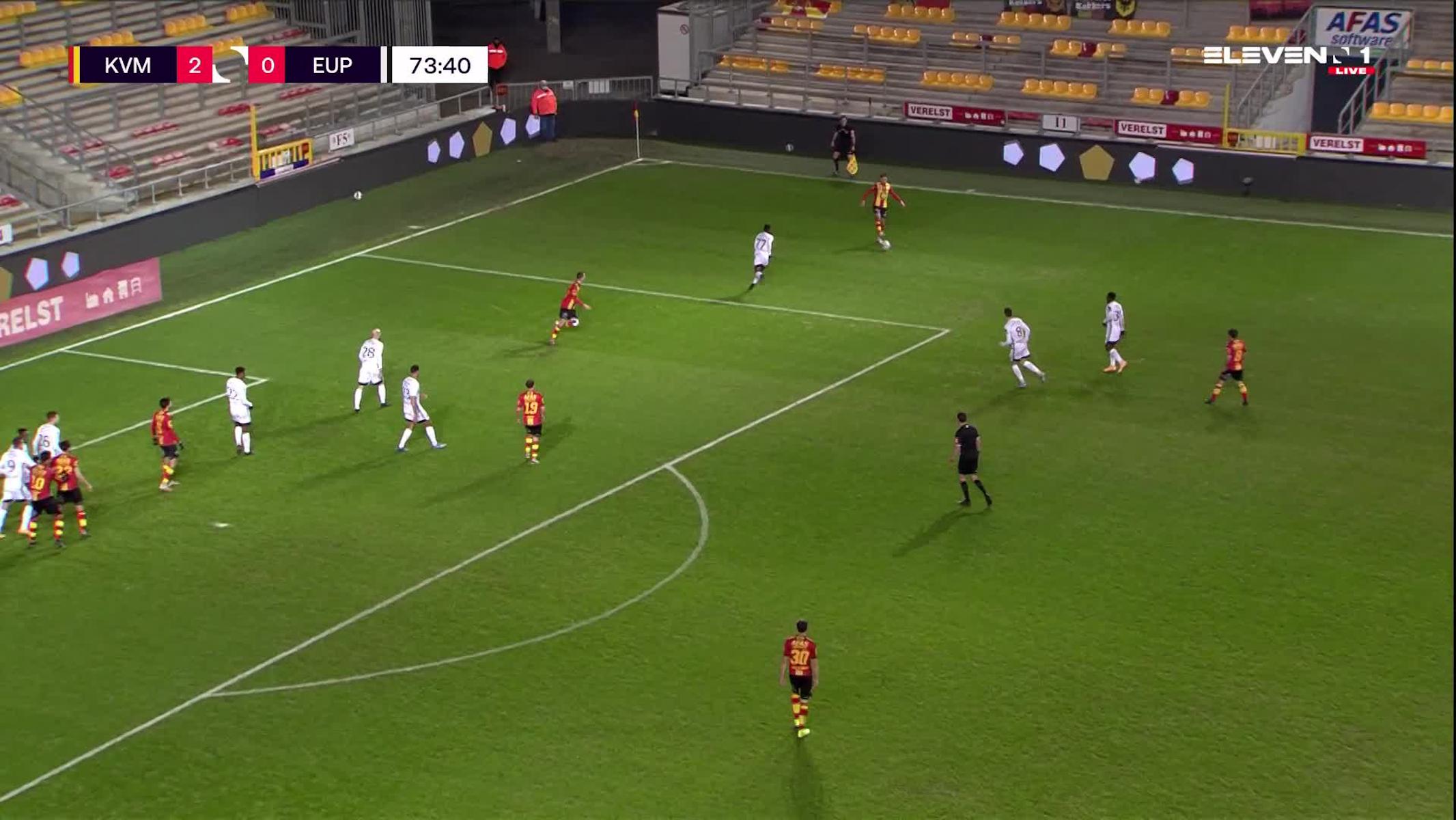 Doelpunt Igor Alberto Rinck de Camargo (KV Mechelen vs. KAS Eupen)