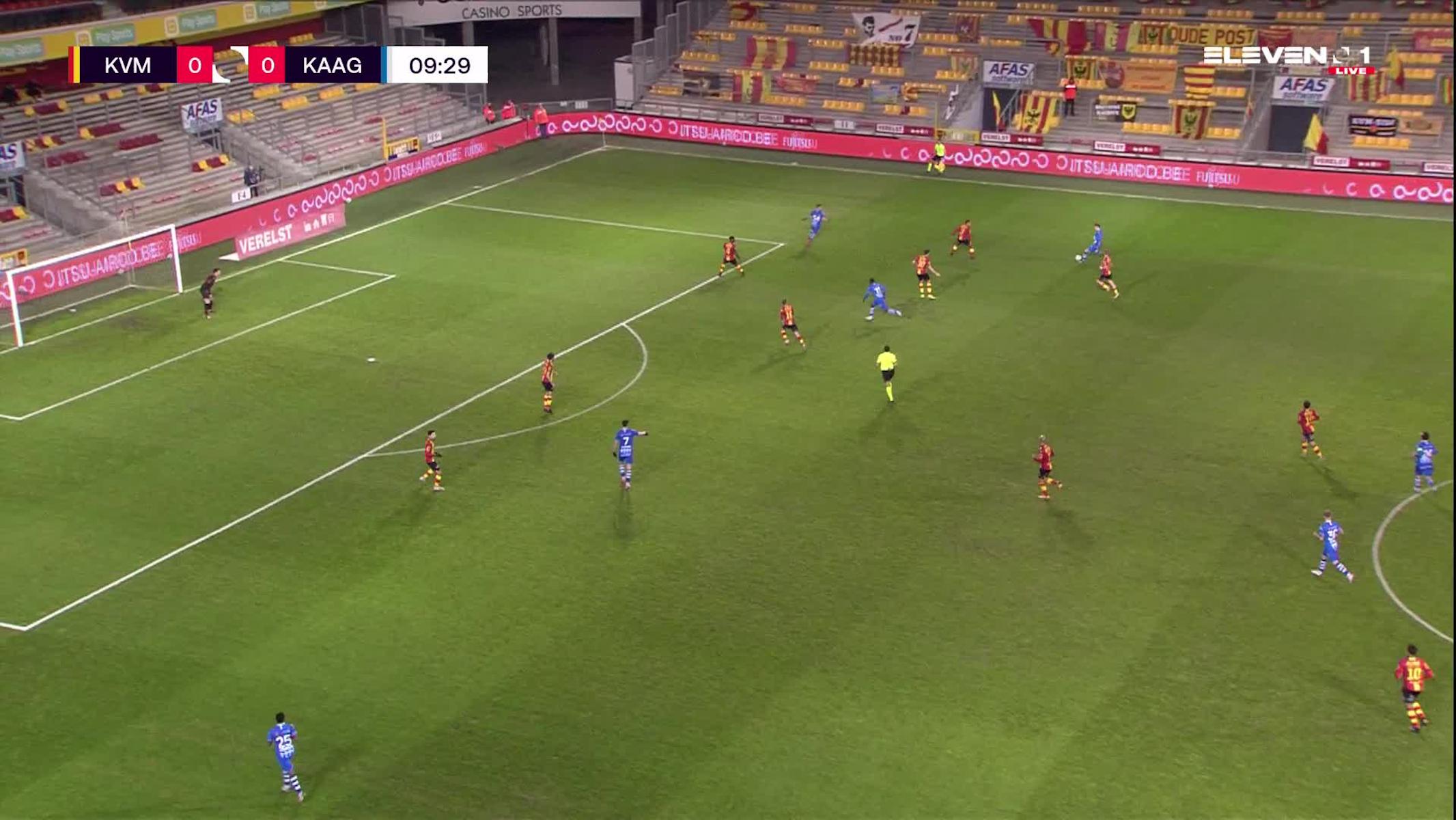 Doelpunt Roman Yaremchuk (KV Mechelen vs. KAA Gent)