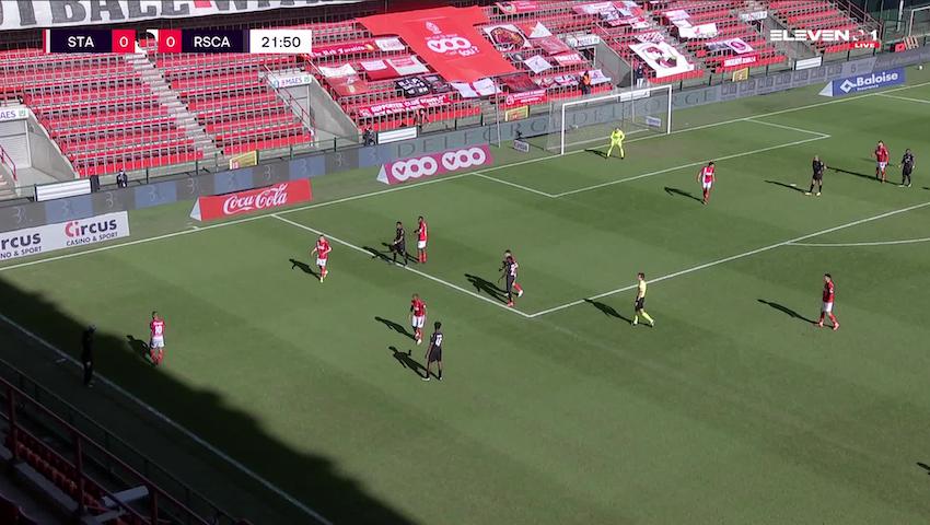 Doelpunt Francis Amuzu (Standard de Liège vs. RSC Anderlecht)