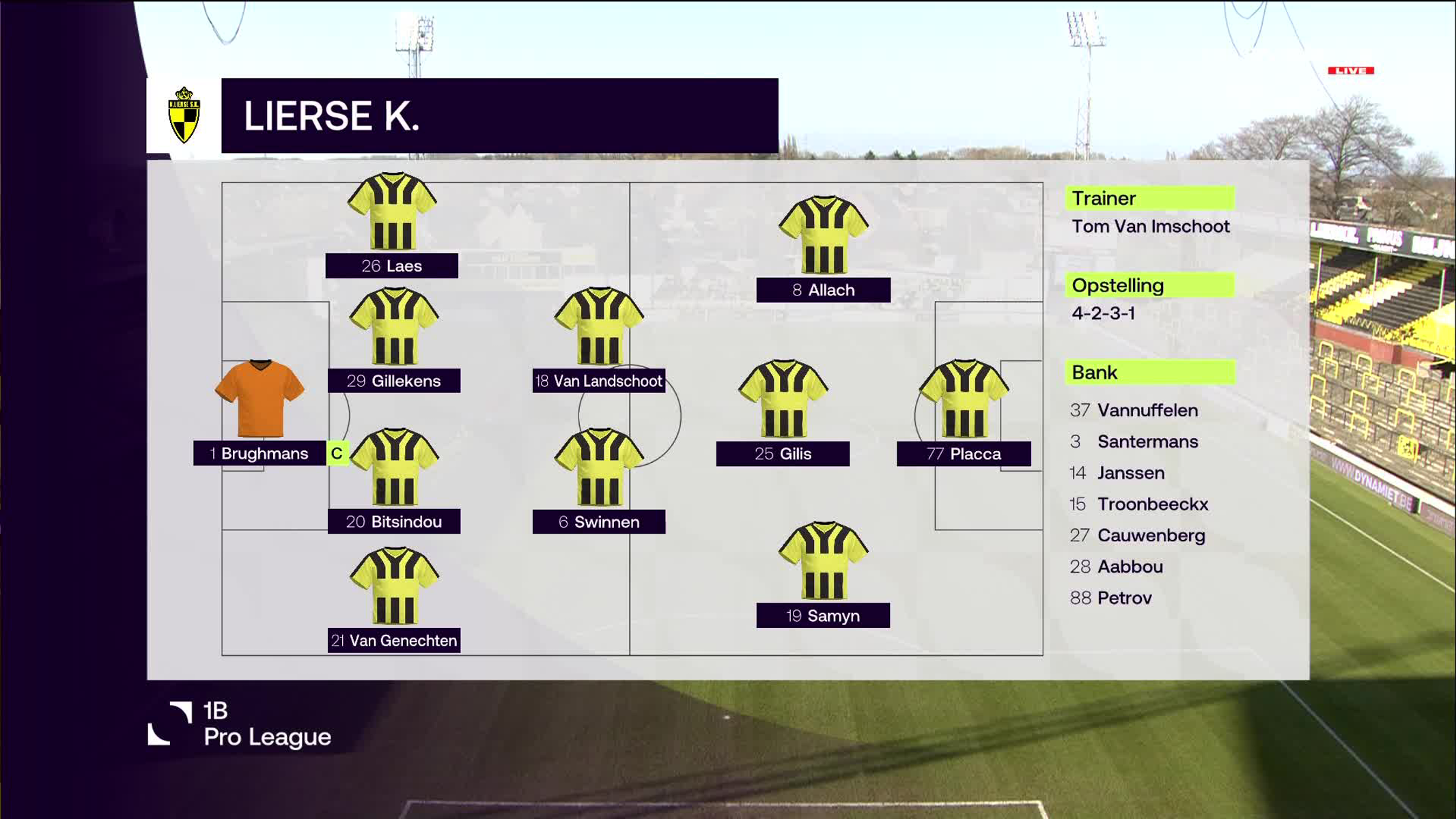 Samenvatting Lierse K vs. RFC Seraing