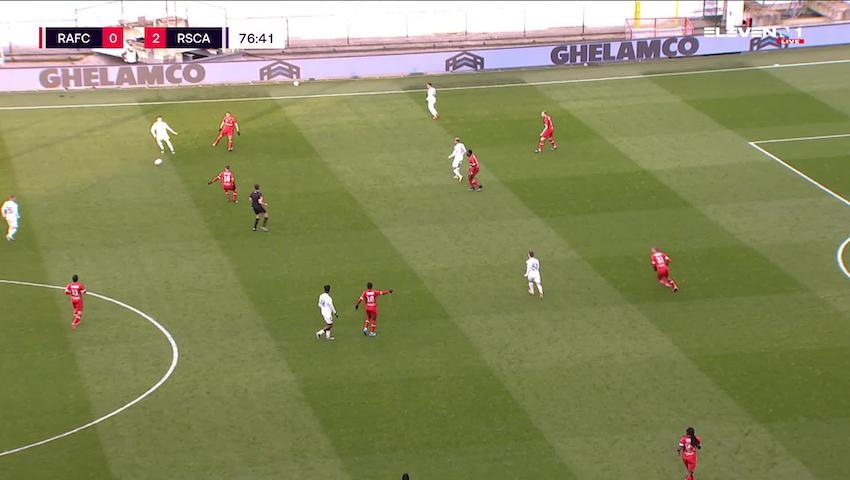 Doelpunt Anouar Ait El Hadj (Royal Antwerp FC vs. RSC Anderlecht)