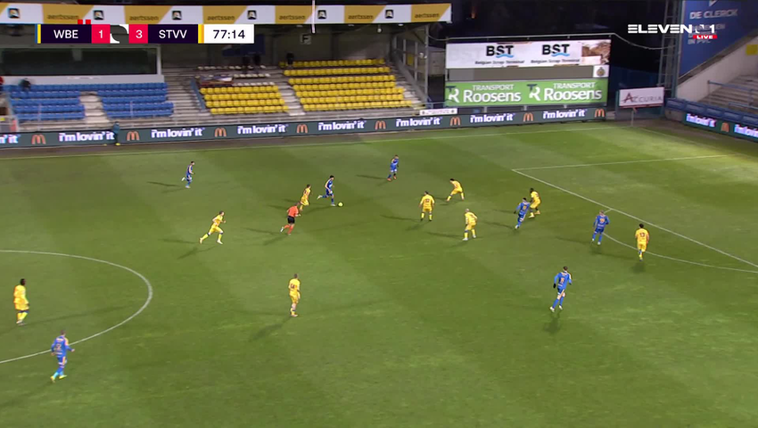 Doelpunt Louis Verstraete (Waasland-Beveren vs. STVV)