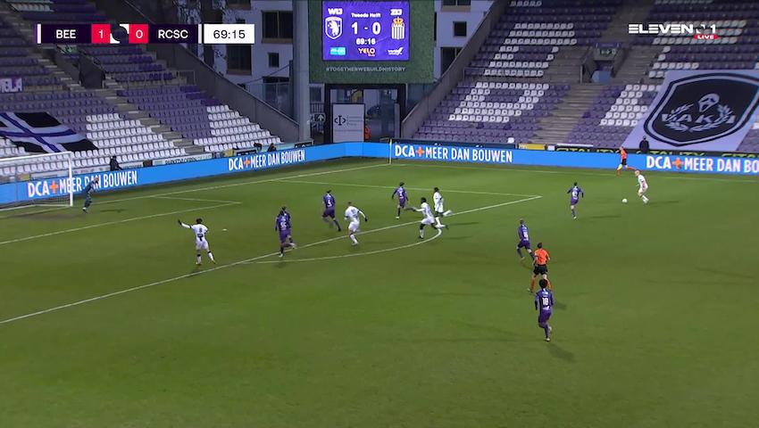 Doelpunt Shamar Nicholson (K. Beerschot V.A. vs. Sporting Charleroi)