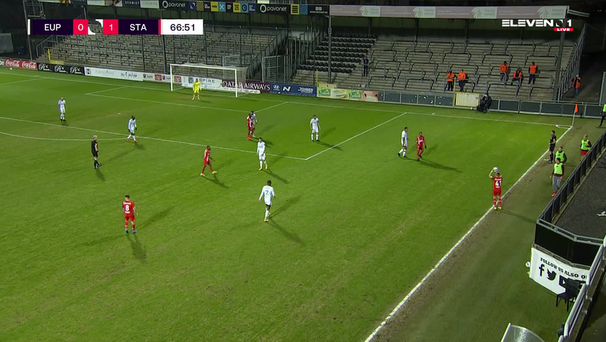 Doelpunt Selim Amallah (KAS Eupen vs. Standard de Liège)