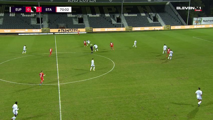 Doelpunt Jackson Muleka (KAS Eupen vs. Standard de Liège)