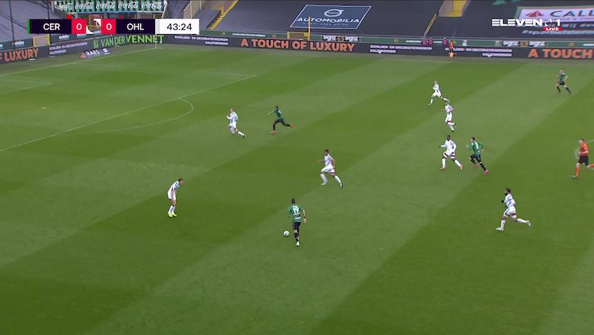 Doelpunt Ike Ugbo (Cercle Brugge vs. OH Leuven)