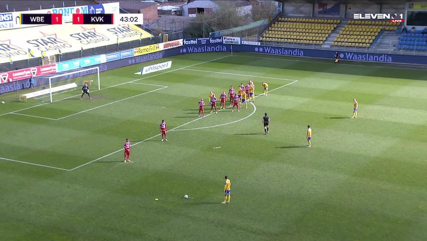 Doelpunt Michael Frey (Waasland-Beveren vs. KV Kortrijk)
