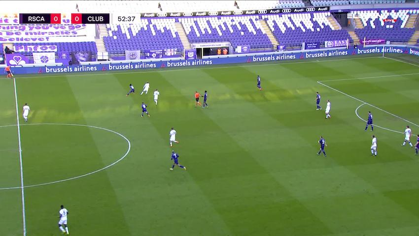 Doelpunt Noa Lang (RSC Anderlecht vs. Club Brugge)