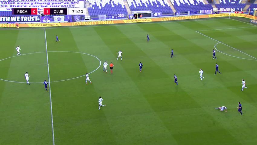 Doelpunt Lukas Nmecha (RSC Anderlecht vs. Club Brugge)