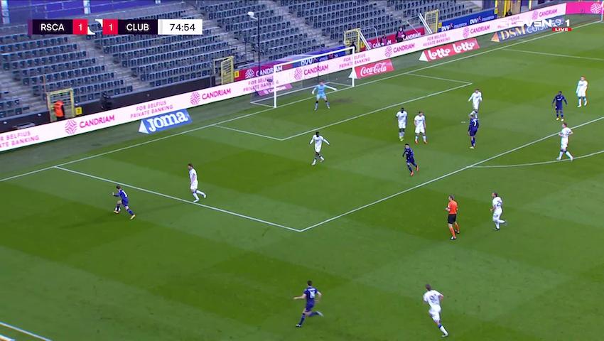 Doelpunt Albert Sambi Lokonga (RSC Anderlecht vs. Club Brugge)