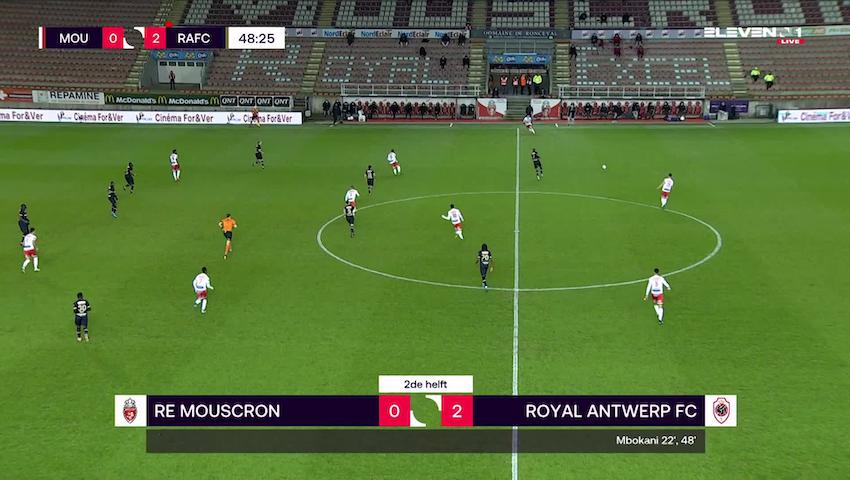 Doelpunt Fabrice Olinga (Royal Excel Mouscron vs. Royal Antwerp FC)