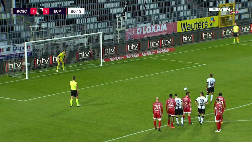 Doelpunt Marco Ilaimaharitra (Sporting Charleroi vs. KAS Eupen)
