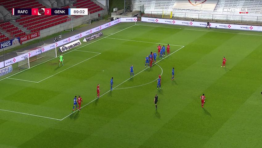 Doelpunt Dieudonne Mbokani Bezua (Royal Antwerp FC vs. KRC Genk)