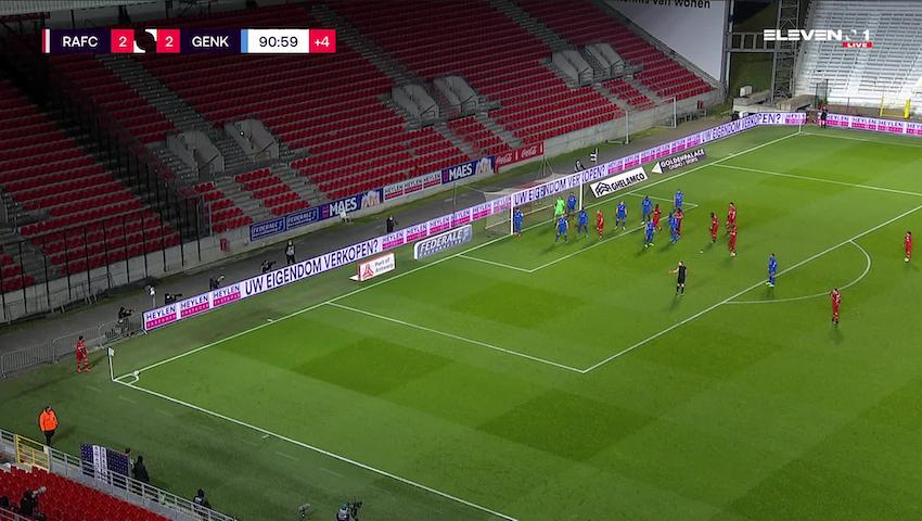 Doelpunt Dylan Batubinsika (Royal Antwerp FC vs. KRC Genk)