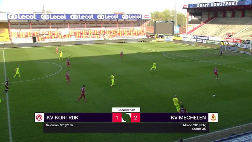 Doelpunt Nikola Storm (KV Kortrijk vs. KV Mechelen)