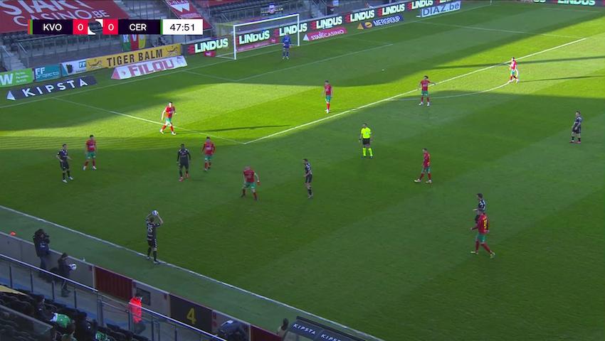 Doelpunt Ike Ugbo (KV Oostende vs. Cercle Brugge)