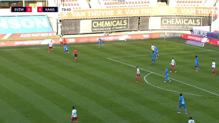 But Gianni Bruno (SV Zulte Waregem vs. KAA Gent)