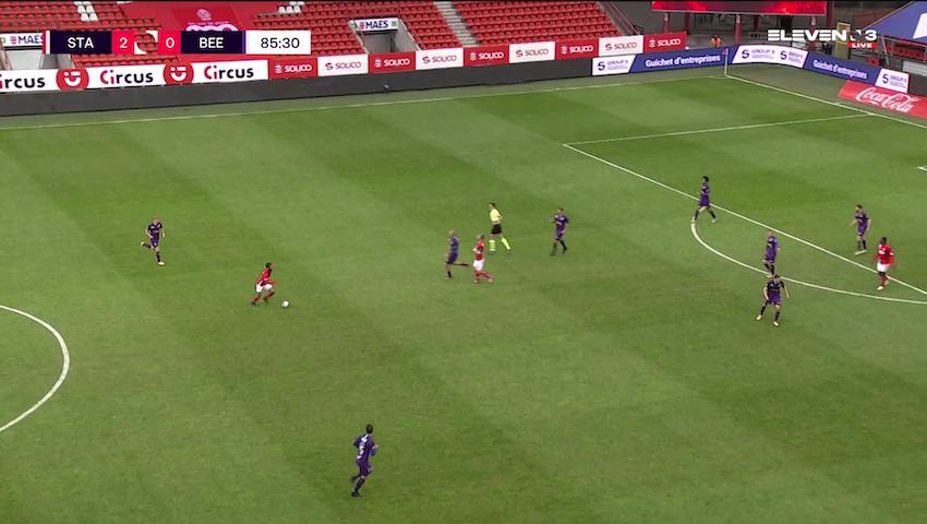 Doelpunt Jackson Muleka goal (Standard de Liège vs. K. Beerschot V.A.)