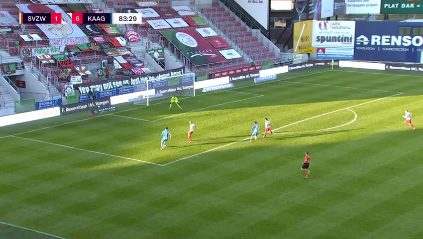Doelpunt Roman Yaremchuk (SV Zulte Waregem vs. KAA Gent)