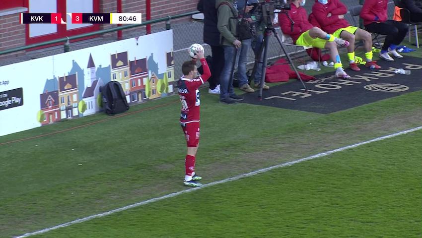 Doelpunt Rob Schoofs (KV Kortrijk vs. KV Mechelen)