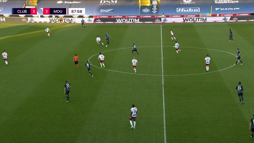 Doelpunt Bas Dost (Club Brugge vs. Royal Excel Mouscron)
