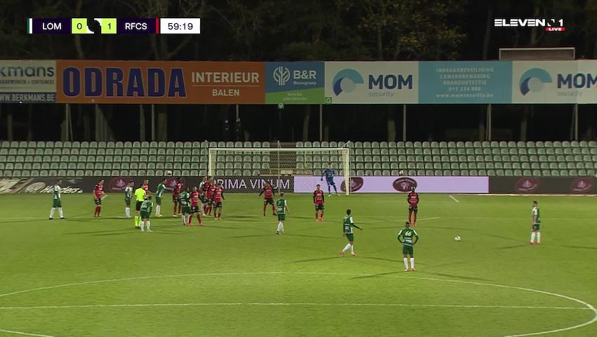 Doelpunt Laurent Lemoine (Lommel SK vs. RFC Seraing)