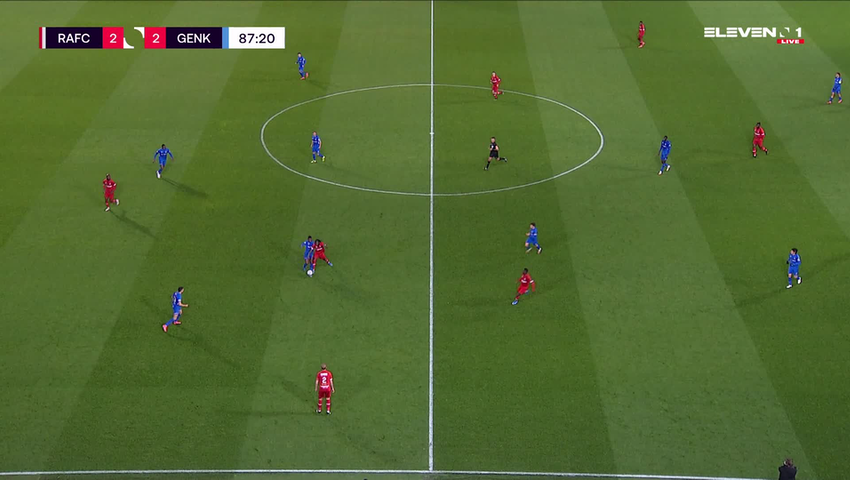 Doelpunt Theo Bongonda Mbul'Ofeko Batombo (Royal Antwerp FC vs. KRC Genk)