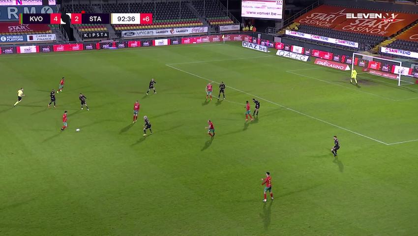 But Theo Ndicka Matam (KV Oostende vs. Standard de Liège)