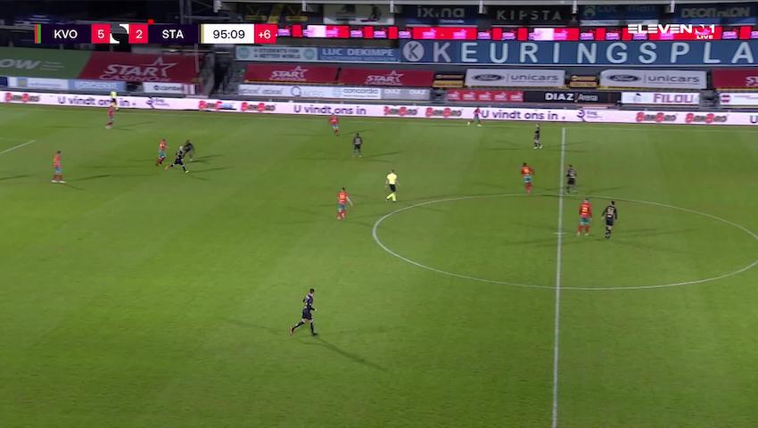 Doelpunt Indy Boonen (KV Oostende vs. Standard de Liège)