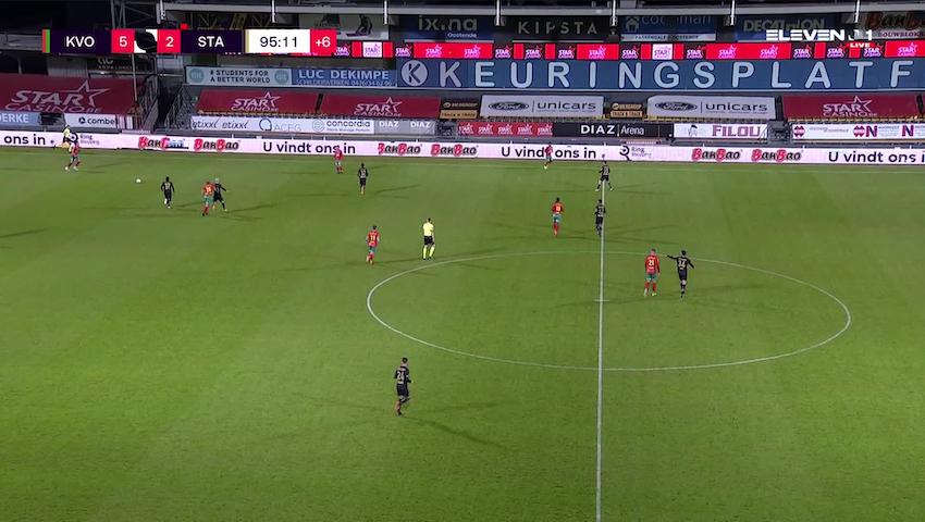 But Indy Boonen (KV Oostende vs. Standard de Liège)