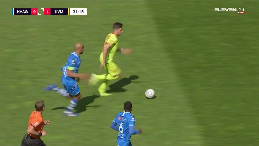 Doelpunt Ferdy Druijf (KAA Gent vs. KV Mechelen)