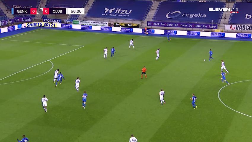 Doelpunt Ebere Paul Onuachu (KRC Genk vs. Club Brugge)