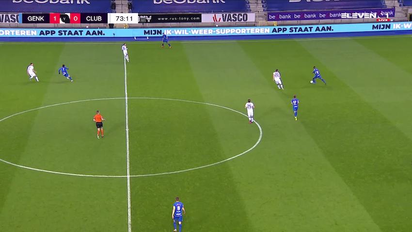 Doelpunt Junya Ito (KRC Genk vs. Club Brugge)