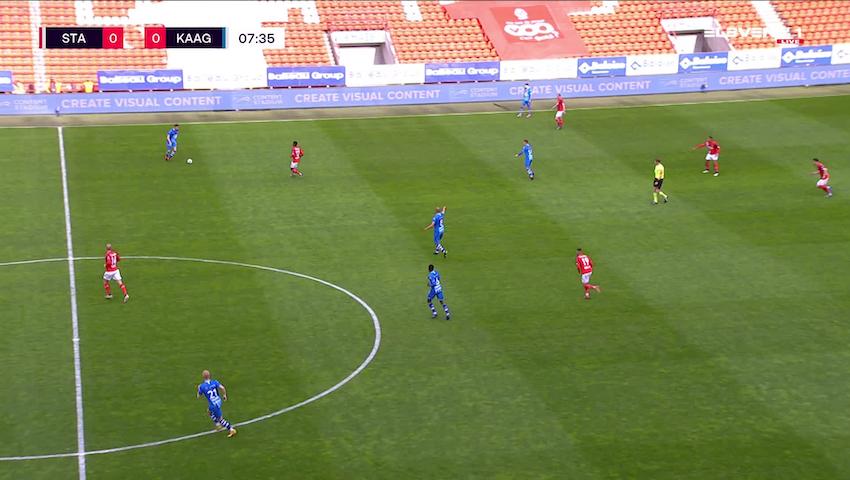 Doelpunt Roman Bezus (Standard de Liège vs. KAA Gent)