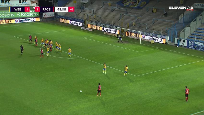 Doelpunt Brahim Sabaouni (Waasland-Beveren vs. RFC Seraing)
