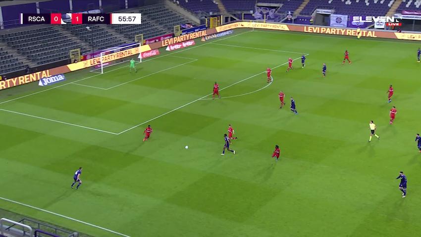 Doelpunt Yari Verschaeren (RSC Anderlecht vs. Royal Antwerp FC)